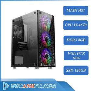 PC GAMING giá rẻ ( Core i5 4570/ H81/ 8Gb/ GTX 1050/ SSD 120Gb)