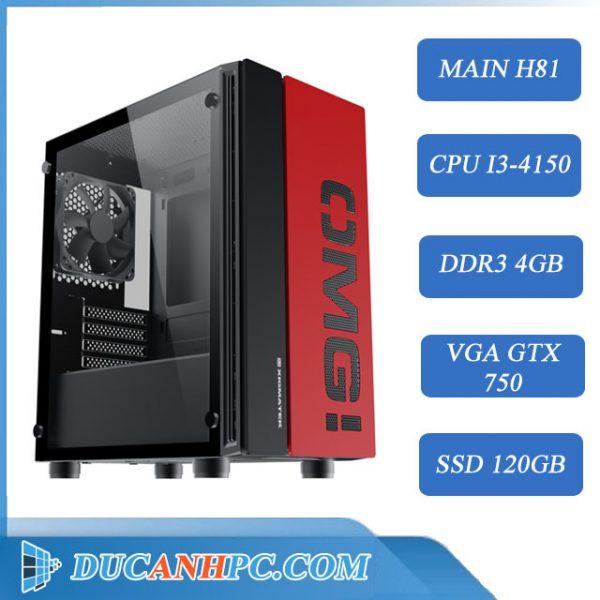 PC GAMING giá rẻ (Core i3-4150/ H81 /4Gb/ GTX750/SSD 120GB)