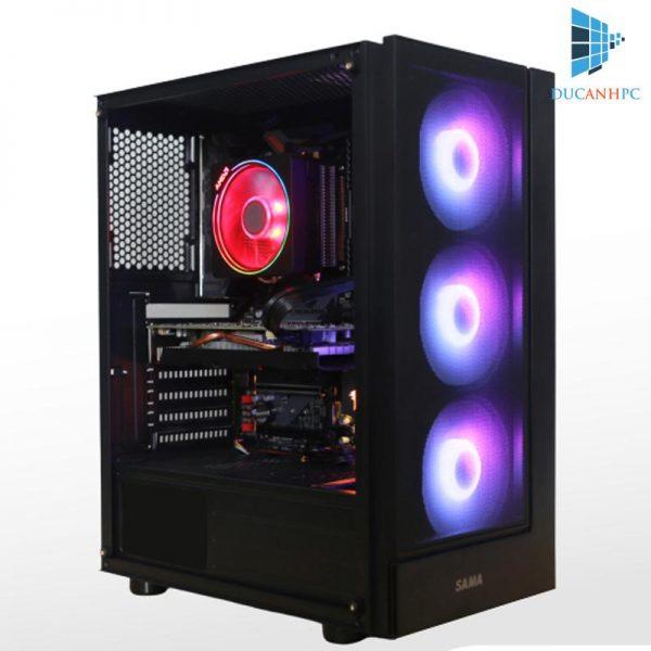 Máy Tính Thiết Kế Đồ Họa Ryzen 7 2700 Main 450M Ram 16Gb VGA GTX 1660 M2 180GB HDD 1T