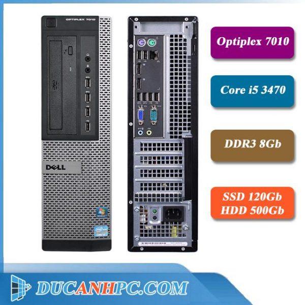 Máy Tính Dell Để Bàn Optiplex 7010 I5 3470 Ram 8gb SSD 120GB HDD 500GB
