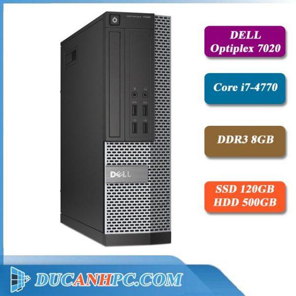 Cây Máy Tính Dell Optiplex 7020 I7 4770 Ram 8Gb SSD 120Gb HDD 500Gb