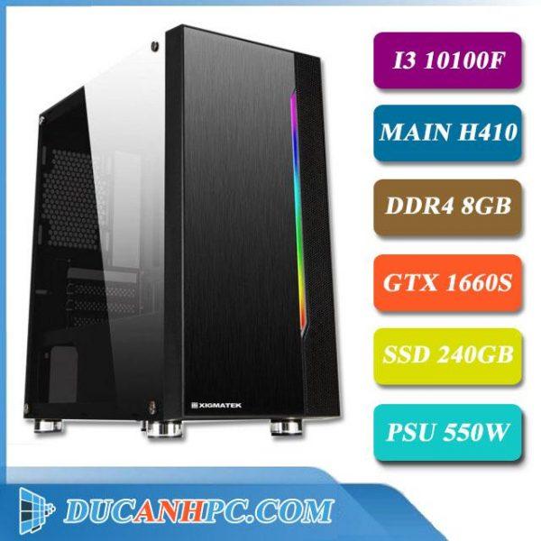 PC Gaming I3 10100f main h410 ram 8gb vga gtx 1650 ssd 240gb