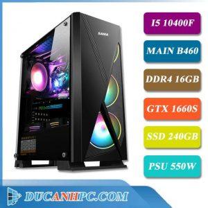 Máy Tính Làm Đồ Họa I5 10400F Main B460 Ram 16GB VGA GTX 1660S SSD 240GB