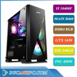 pc gaming i5 10400f main b460 ram 8gb vga gtx 1650 ssd 240gb