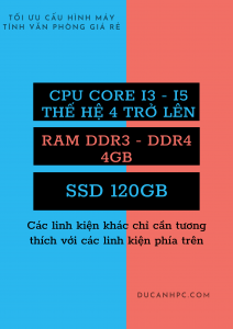 Tối ưu cấu hình máy tính văn phòng giá rẻ