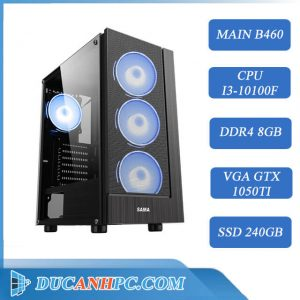 PC Gaming (I3-10100F/ B460/ RAM 8GB / GTX 1050TI / SSD 240Gb)